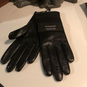 NWT MARKS & SPENCER cashmere lined leather gloves